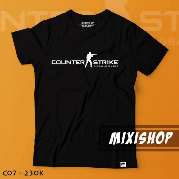 Áo thun đen logo counter strike